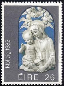 Ireland # 536 used ~ 26p Madonna and Child