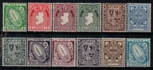 Ireland Scott 106-17 Mint hinged (Catalog Value $232.75)