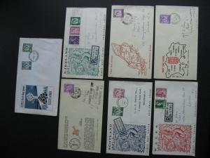 GREAT BRITAIN regionals 7 old first day covers. Have been mailed,mixed condition
