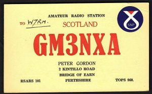QSL QSO RADIO CARD GM3NXA/Peter Gordon/Bridge of Earn, Scotland (Q2147)