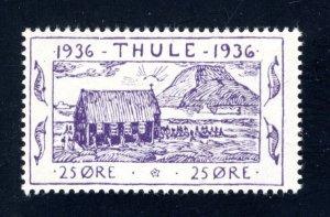 Greenland, Thule, #YV3,  Local Post, VF, Unused, CV $5.00 ....2510261