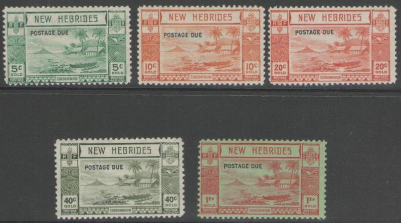 NEW HEBRIDES SGD6/10 1938 POSTAGE DUES  MTD MINT