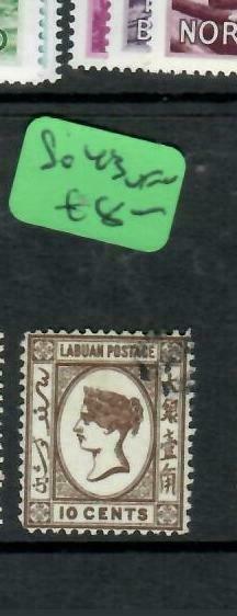 LABUAN  (P2204B)  QV  10C  SG 43    VFU
