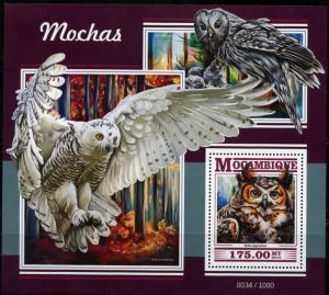 MOZAMBIQUE 2015  OWLS SOUVENIR SHEET MINT NEVER HINGED