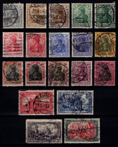 Germany 1902 Empire Definitives (inscr. 'DEUTSCHES REICH', incl. shades) ...