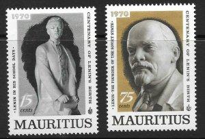 MAURITIUS SG417/8 1970 BIRTH CENTENARY OF LENIN MNH