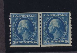 396 Line pair F-VF mint never hinged with nice color cv $ 975 ! see pic !