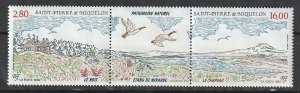 1994 St. Pierre and Miquelon - Sc 606a - MNH VF - 1 pr - National Heritage