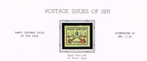 ITALY VATICAN CITY MH/OG STAMPS COLLECTION LOT #3 1931 Overprint in Red