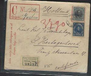 CHILE  (P3108B)   1912 15C CERTIFICATO PSE+10C+5C VALPARAISO
