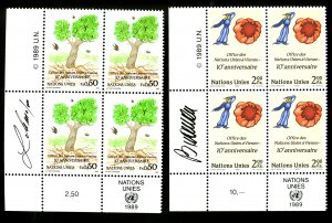 UNITED NATIONS #178, 179 MINT SET NH