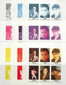 Batum 1996 Elvis Presley sheetlet containing set of 6 val...