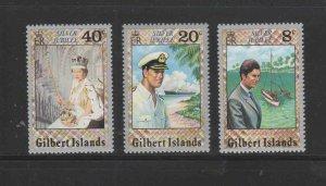 GILBERT ISLAND #293-295  1977 QEII 25TH. ANNIV. MINT  VF NH  O.G  a