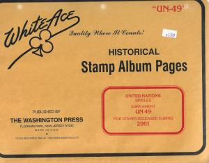 White Ace United Nations Singles UN49 Supplement 2001
