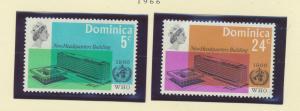 Dominica Scott #197 To 198, Two Stamp World Health Organization (WHO) Headqua...