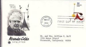 1998, Alexander Calder-Untitled, PCS, FDC (E7948)