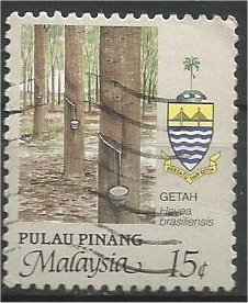 PENANG, 1986, used 15c, Agriculture Scott 92