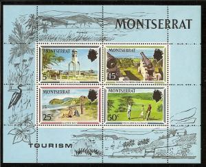 Montserrat  251a Mint OG 1970 Tourist Publicity Sheet
