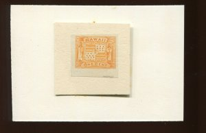 Hawaii Scott 74P3 Plate Proof on India Paper Unused Stamp (Stock H74-P1)