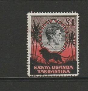KUT 1938/54 GV1 £1 P14 FU SG 150a
