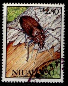 TONGA - niuafo'ou QEII SG160, 2p 50 longhorned beetle, FINE USED.