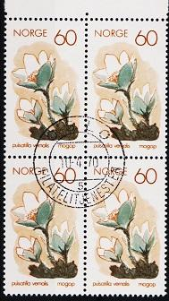 Norway. 1970 60ore(Block of 4) S.G.645 Fine Used