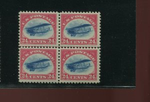 Scott C3 Curtiss Jenny Air Mail Mint Line  Block of 4 Stamps NH (Stock C3-15)