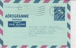 norway 1968 stamps cover ref 19403
