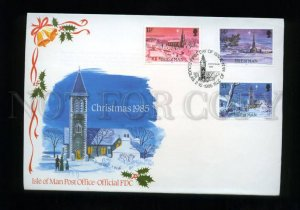 161435 ISLE OF MAN 1985 Christmas FDC cover
