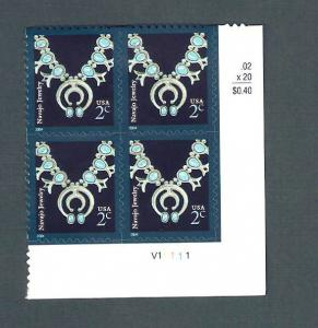 3750 Navajo Necklace Plate Block Mint/nh FREE SHIPPING
