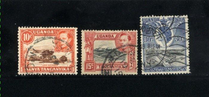 Kenya, Uganda, Tanzania 69,72,108   used VF  PD