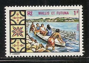 Wallis and Futuna Islands 171 1969 Canoe single MNH