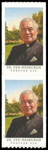 PCBstamps    US # 5242 Coil Pair 98c(2x{49c})Father Theodor Hesburgh, 2017, M...