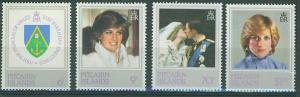 Pitcairn Islands SC#213-6 Princess Diana, set,  MNH
