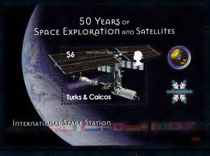 [101235] Trinidad & Caicos Isl. 2008 Space Travel International ISS Sheet MNH