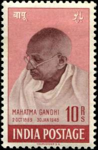India SC# 206 SG# 308 Gandhi 10rs  well centered mint hinged