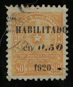 Paraguay 1913 Coat of Arms, overprint: Habilitado en 0.50 1920., 80c (ТS-693)