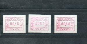 Israel 1988 Frama Labels Set of Three MNH!!