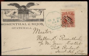 Guatemala 1894 Neuschatel Sitzerland General Delivery Cover 92797