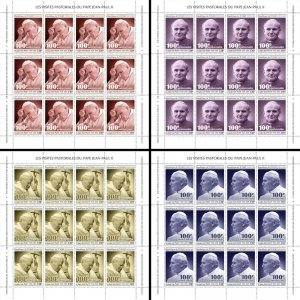 Chad Pope John Paul II Stamps 2020 MNH Popes Famous People 4x 12v M/S