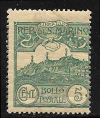 San Marino 42 mh 2013 SCV $11.50 gum wrinkles