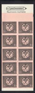 Sweden Sc 779a 1968 70 o Nat Bank stamp bklt of 10  mint NH