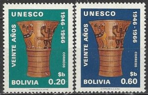 Bolivia 508-9  MNH  UNESCO 20th Anniversary