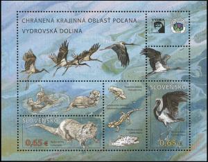 Slovakia. 2015. Protected Landscape Area Poľana (MNH OG) Souvenir Sheet