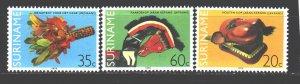 Suriname. 1979. 877-79. Folkler. MNH.
