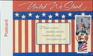 HNLP Hideaki Nakano B-2 United WE Stand Postcard Sharing a Wish for Peace