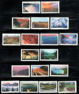 C133-C150 Scenic American Landscapes Complete Set Of 18 Mint/nh FREE SHIPPING