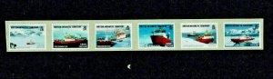 British Antarctic Territory: 2011 Research Ships, self-adhesive coil stamps.