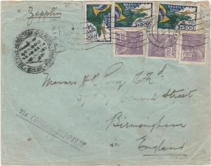 BRAZIL 1934 ZEPPELIN CONDOR COVER TO ENGLAND
