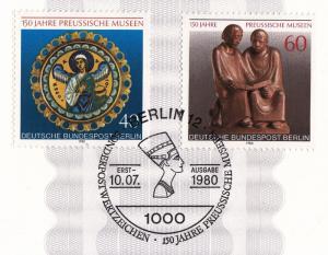 Germany Berlin ETB 6 / 1980 SC #9N453, 9N454 Prussian Museum 150 anniv. Berlin.